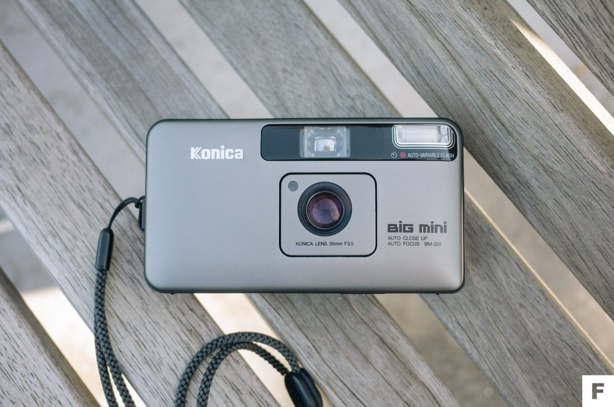 konica big mini point & shoot camera