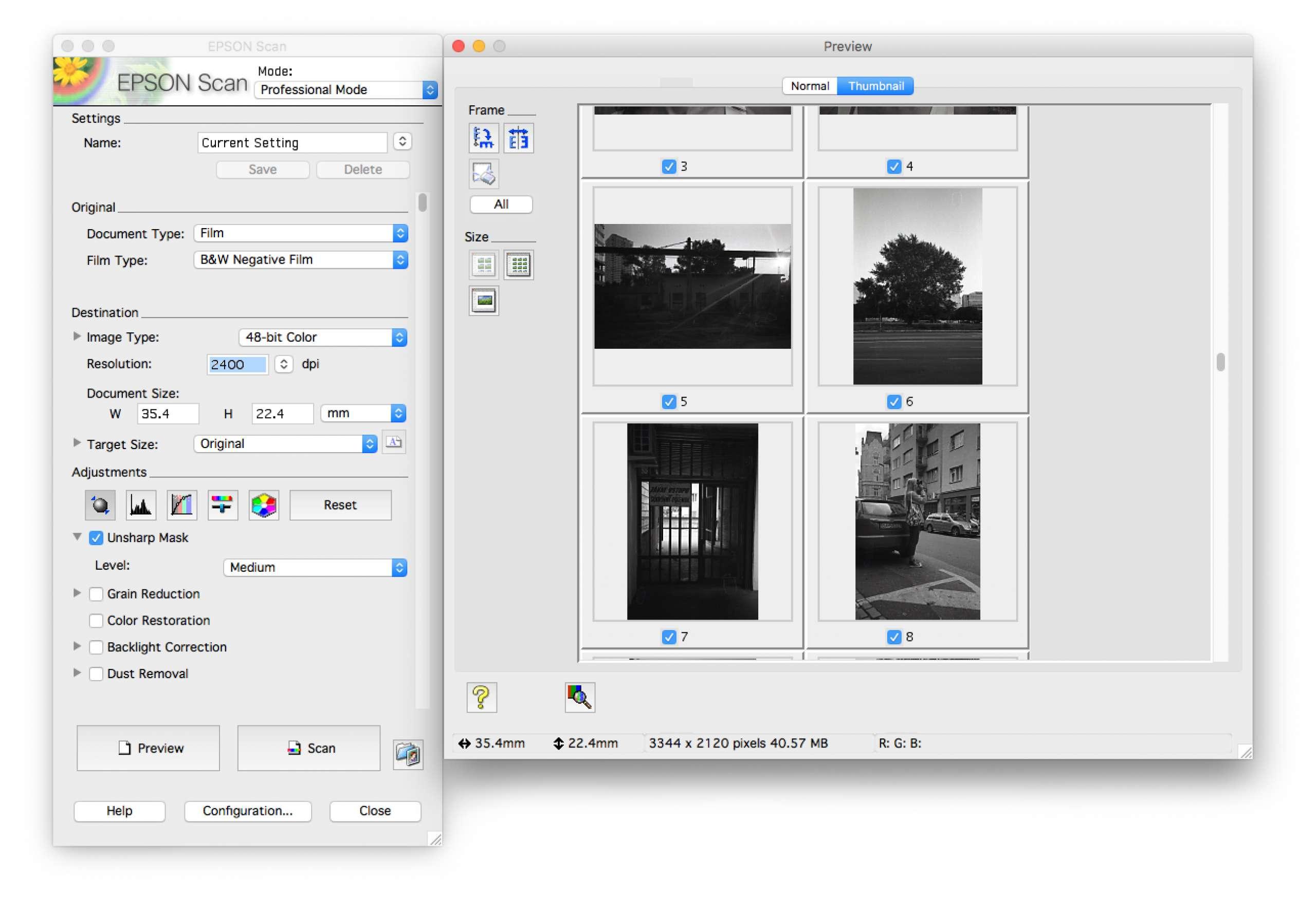 skenovanie filmu doma na skeneri Epson V600