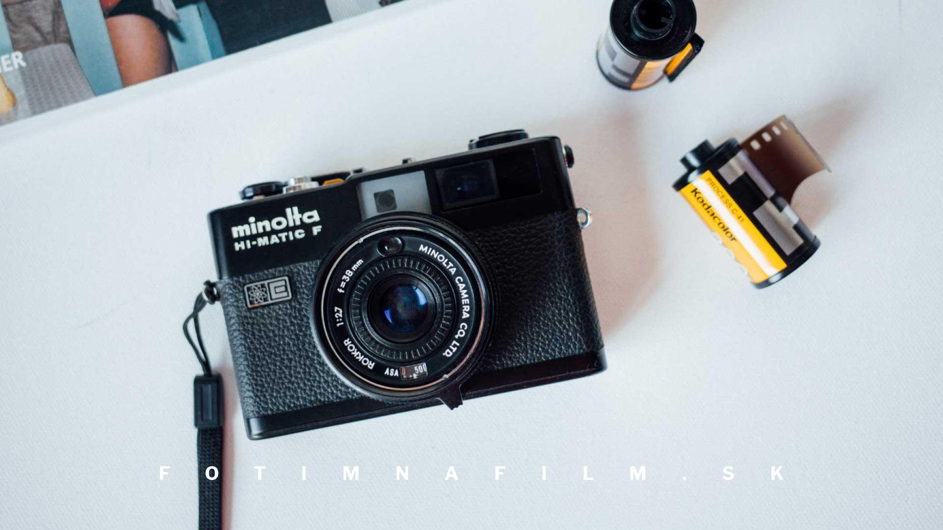 Fotoaparát na kinofilm Minolta Hi-Matic F