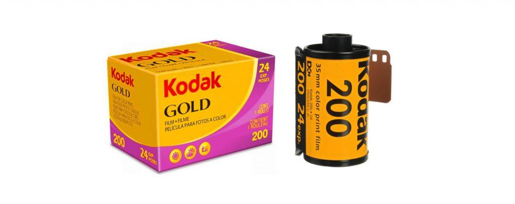 farebný kinofilm kodak gold 200