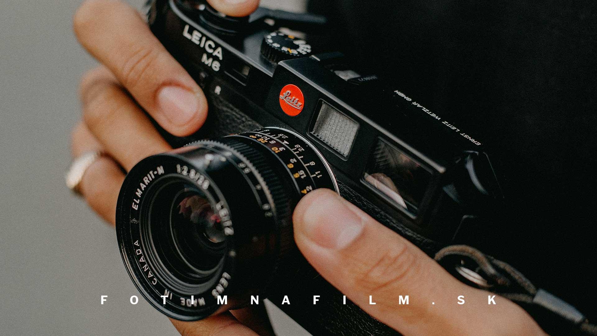 Leica M6 fotoaparát na film